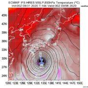 【台風10号(予定)】ネットざわつく…欧米の予測データでは 6~7日に伊勢湾台風など歴史的な勢力で西日本を直撃する進路に